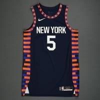 Dennis Smith Jr. - New York Knicks - 2019 AT&T Slam Dunk - Game-Issued City Edition Jersey