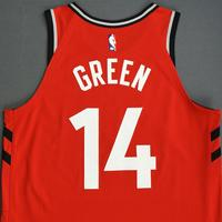 Danny Green - Toronto Raptors - 2018-19 Season - Canada Series - Game-Worn Red Icon Edition Jersey - Scored a Team-High 22 Points