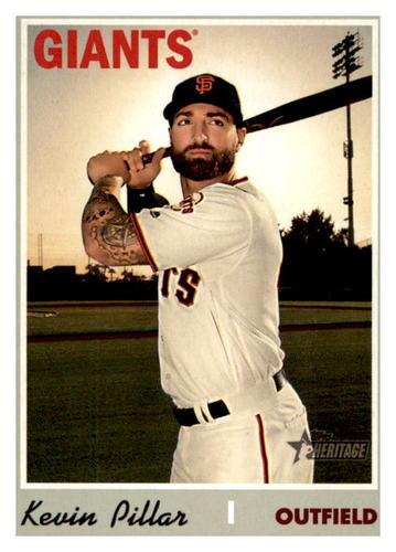 Photo of 2019 Topps Heritage #598 Kevin Pillar