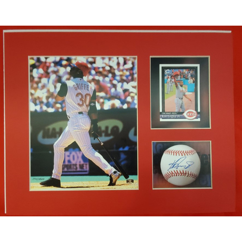Photo of Matted Ken Griffey Jr Batting - 11x14