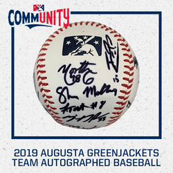 Photo of 2019 Augusta GreenJackets Team Autographed Baseball