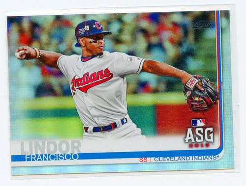 Photo of 2019 Topps Update Rainbow Foil #US293 Francisco Lindor AS