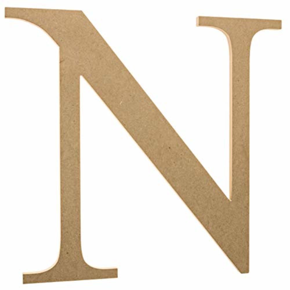 "Photo of 12"" Wooden Greek Letter Nu - Fraternity/Sorority Premium MDF Wood Letters (12 inch, Nu)"