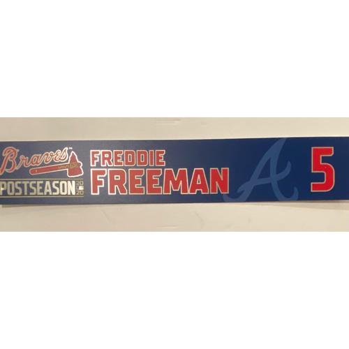 Photo of 2020 NL MVP & Silver Slugger: Freddie Freeman 2020 Postseason Locker Nameplate - Authenticated 9/30/20 - Wild Card Game 1