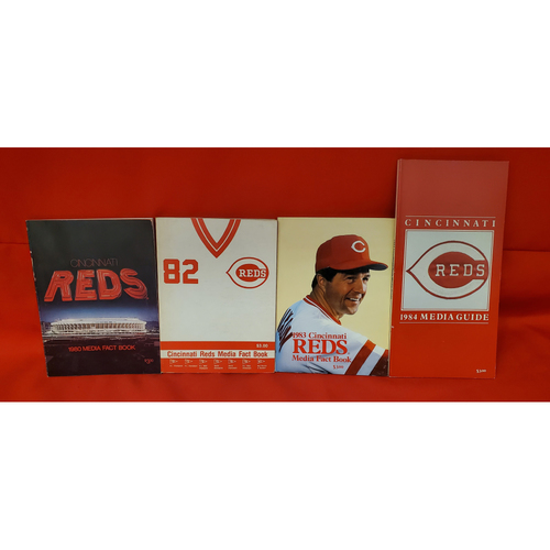 Photo of Cincinnati Reds Media Guide Collection: 1980, 1982, 1983, 1984