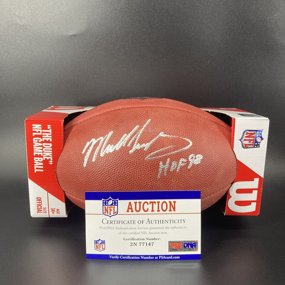 HOF - Bears Mike Singletary Signed Authentic Football with