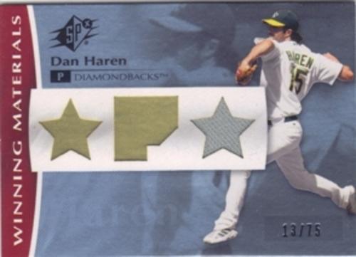 Photo of 2008 SPx Winning Materials Position 75 #DH Dan Haren