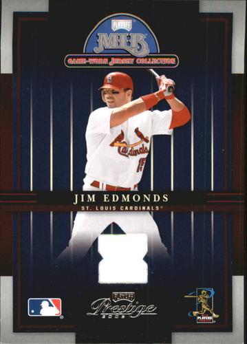 Photo of 2005 Playoff Prestige Playoff MLB Game-Worn Jersey Collection #1 Jim Edmonds