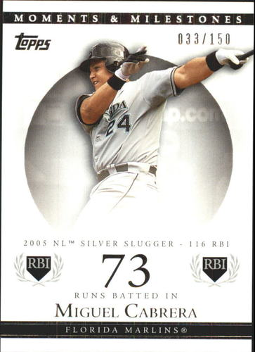 Photo of 2007 Topps Moments and Milestones #110-73 Miguel Cabrera/RBI 73