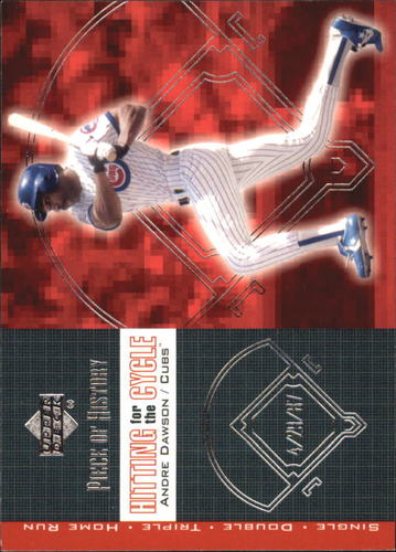Photo of 2002 UD Piece of History Hitting for the Cycle #H2 Andre Dawson
