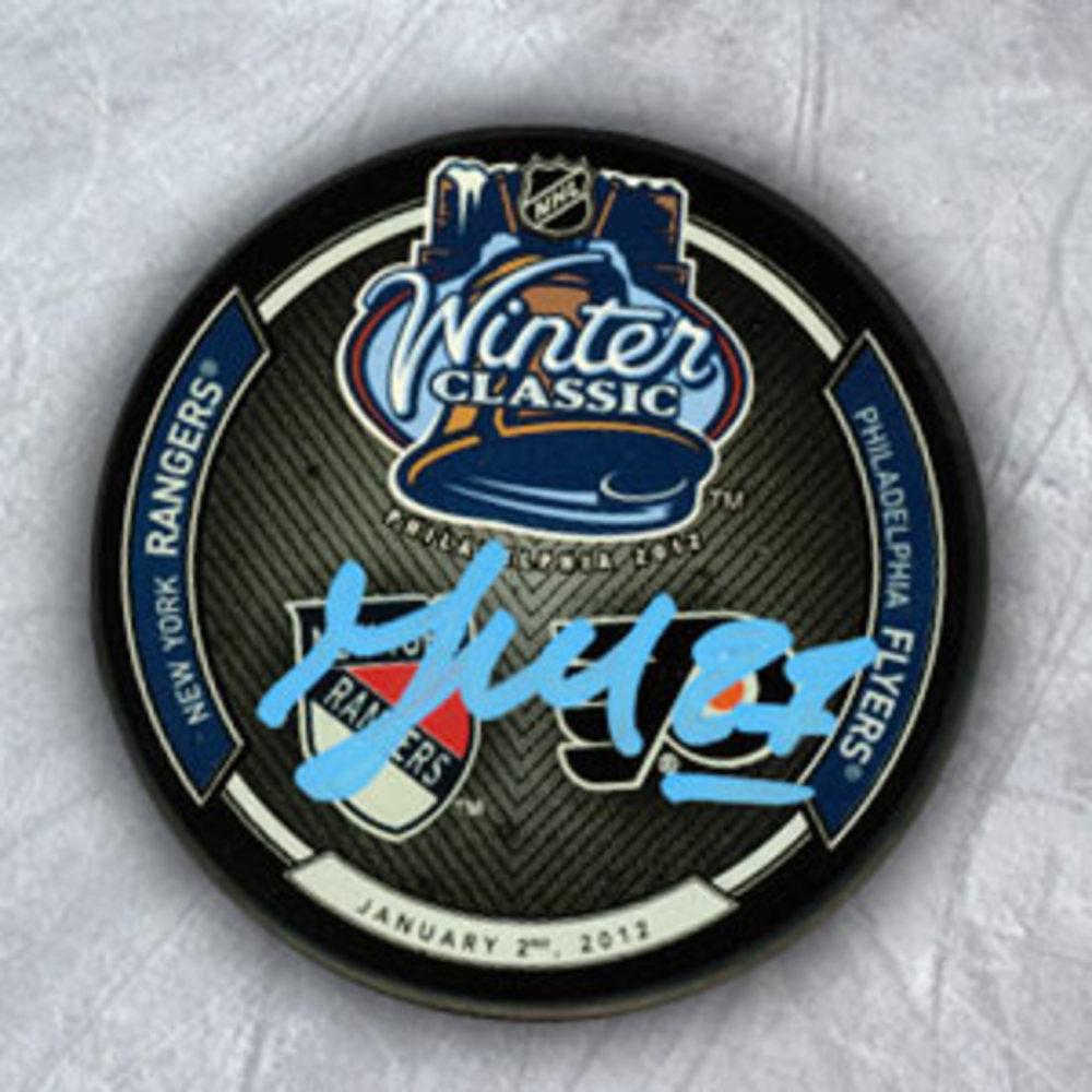 Maxime Talbot Philadelphia Flyers Autographed 2012 Winter Classic Hockey Puck