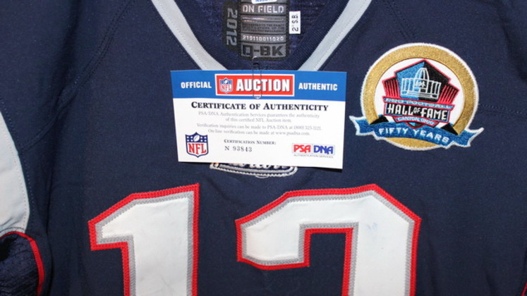 tom brady jersey game worn