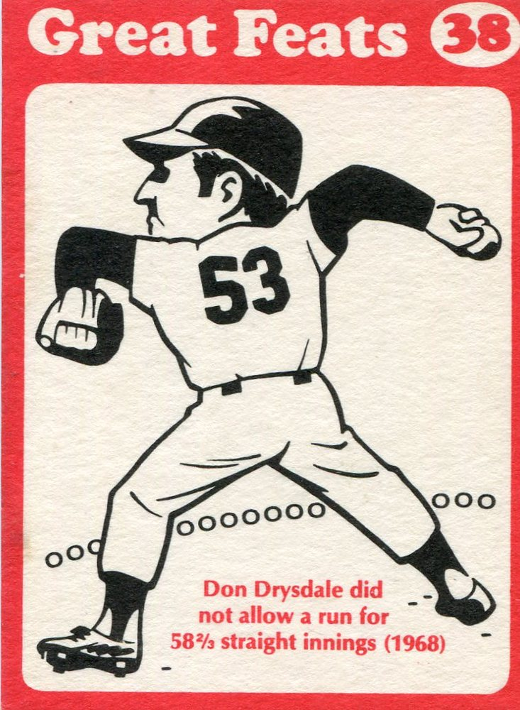 1972 Laughlin Great Feats #38 Don Drysdale