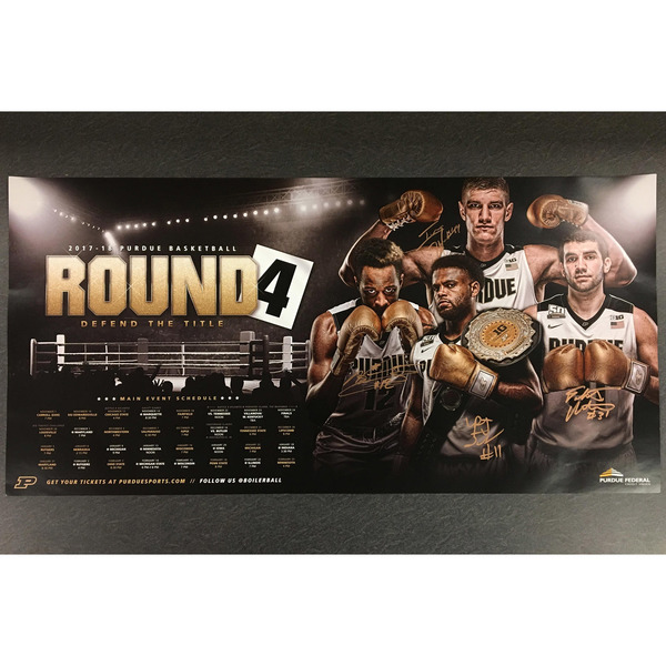 Photo of 2017 Purdue Men's Basketball Poster Signed by the Seniors (A)