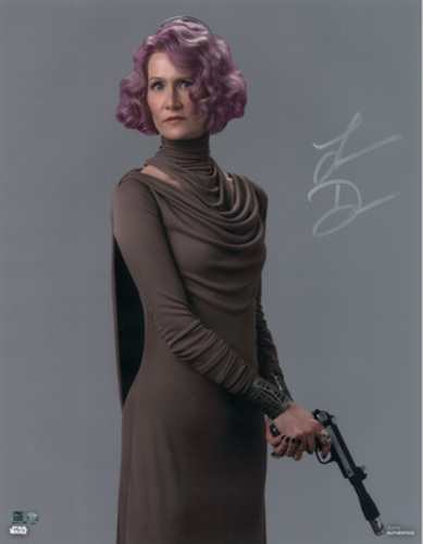 Laura Dern as Vice Admiral Holdo Autographed in Silver Ink 8x10 Photo