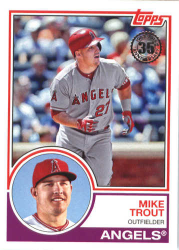 Photo of 2018 Topps '83 Topps #8313 Mike Trout