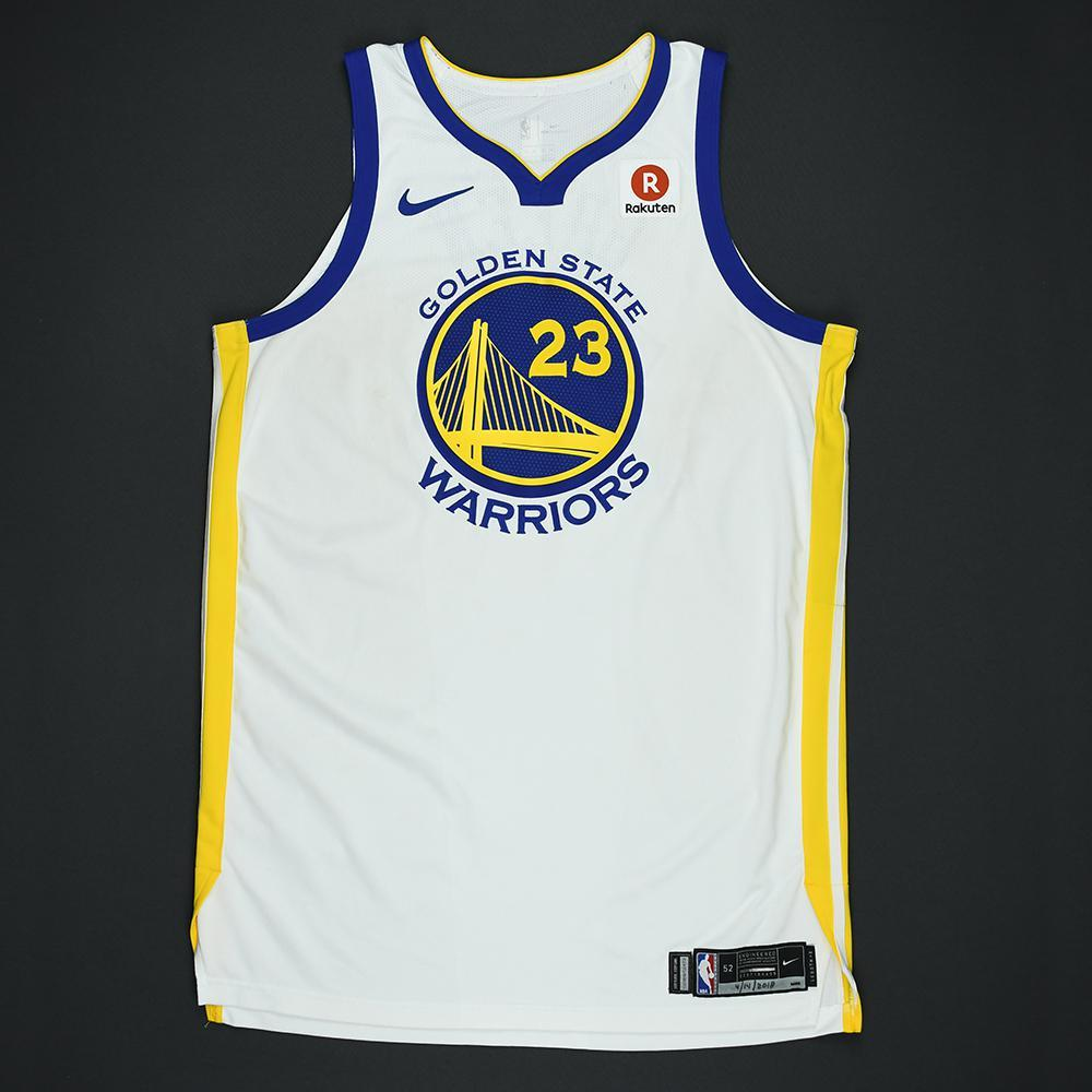 Draymond Green - Golden State Warriors - 2018 NBA Playoffs Game-Worn Jersey (Double-Double)