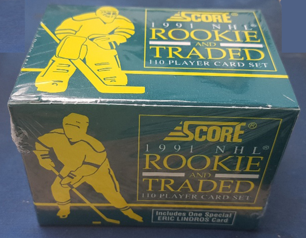 Factory Sealed 1991 Score Rookie & Traded 110 Player Hockey Card Set *Lidstrom, Kamensky Rookie Cards*