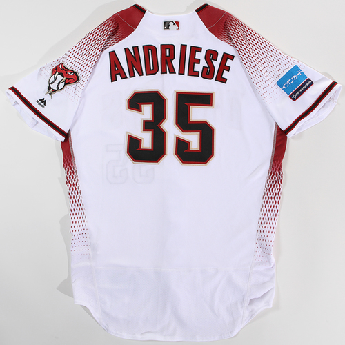 Photo of 2018 Japan Series Game-Used Jersey - Matt Andriese - Size 46