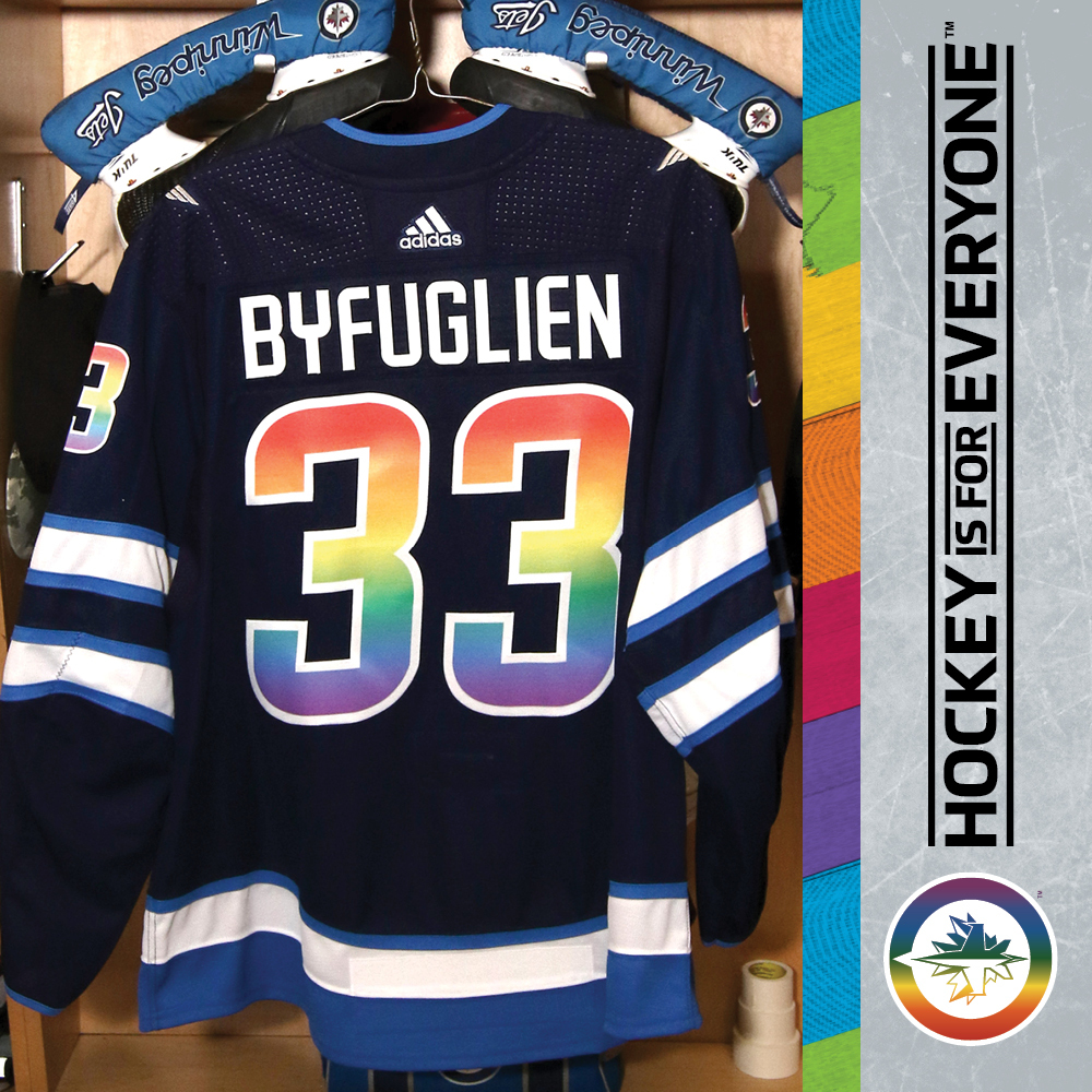 timeless design fa0a9 22de6 DUSTIN BYFUGLIEN (A) Warm Up Worn You Can Play Jersey - NHL ...
