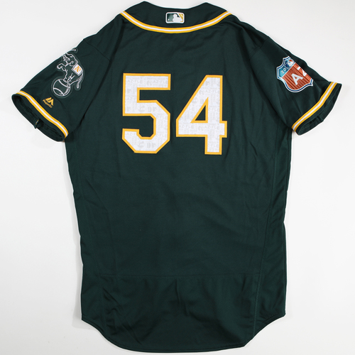 Photo of 2016  Spring Training -  Game-Used Jersey - Sonny Gray (A's) - Size 44