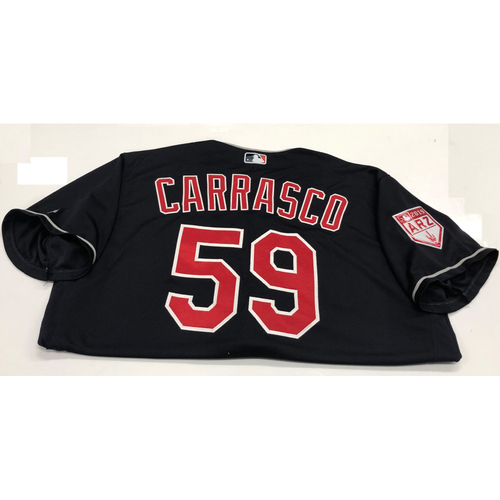 Photo of Carlos Carrasco Team Issued 2019 Spring Training Jersey