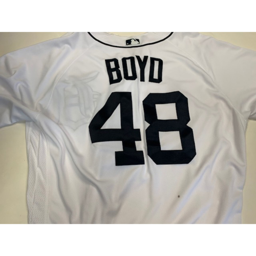 Tigers Matt Auctions Jersey Game-used Home Boyd