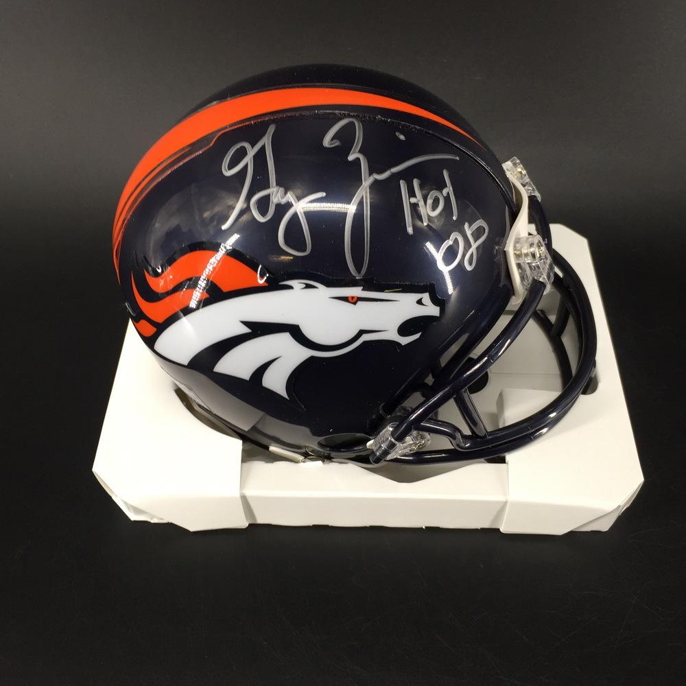 HOF - Broncos Gary Zimmerman Signed Mini Helmet