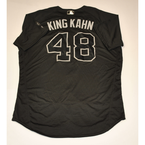 "Photo of Tommy ""KING KAHN"" Kahnle New York Yankees Game-Used 2019 Players' Weekend Jersey"