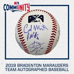 Photo of 2019 Bradenton Marauders Team Autographed Baseball