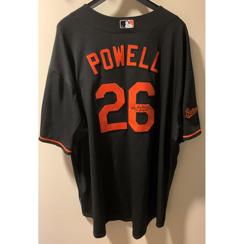 """Photo of John """"Boog"""" Powell Autographed Jersey - NOT MLB Authenticated - Certificate of Authenticity Included"""