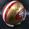 PCC - 49ers Jerry Rice, Joe Montana and Steve Young Signed Proline Helmet