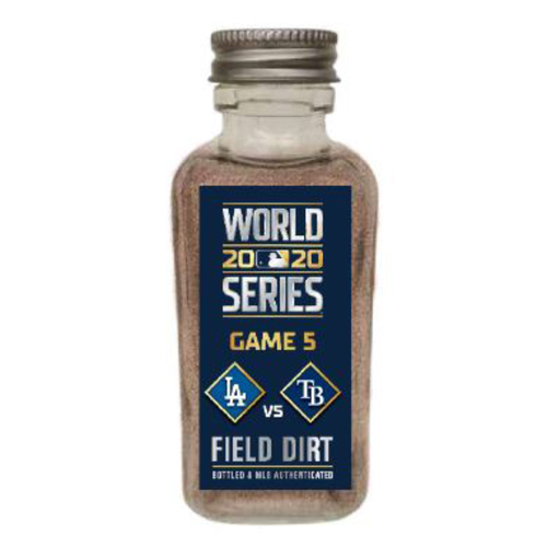 Photo of Game-Used Dirt Jar - 2020 World Series - Los Angeles Dodgers v. Tampa Bay Rays - Game 5