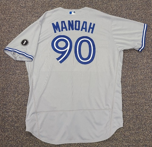 Photo of Authenticated Team Issued Jersey: #90 Alek Manoah (2020 Season). Set 1. Size 54.