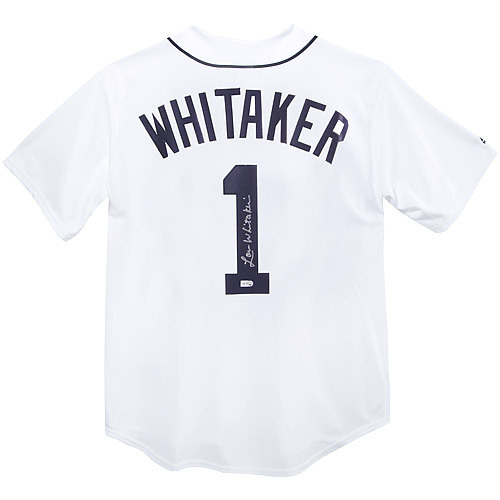 Detroit Tigers Lou Whitaker Autographed Jersey - Jersey Size - M