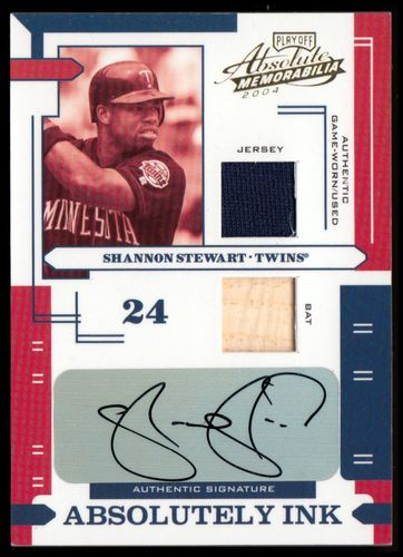 Photo of 2004 Absolute Memorabilia Absolutely Ink Combo Material #111 S.Stewart Bat-Jsy/65