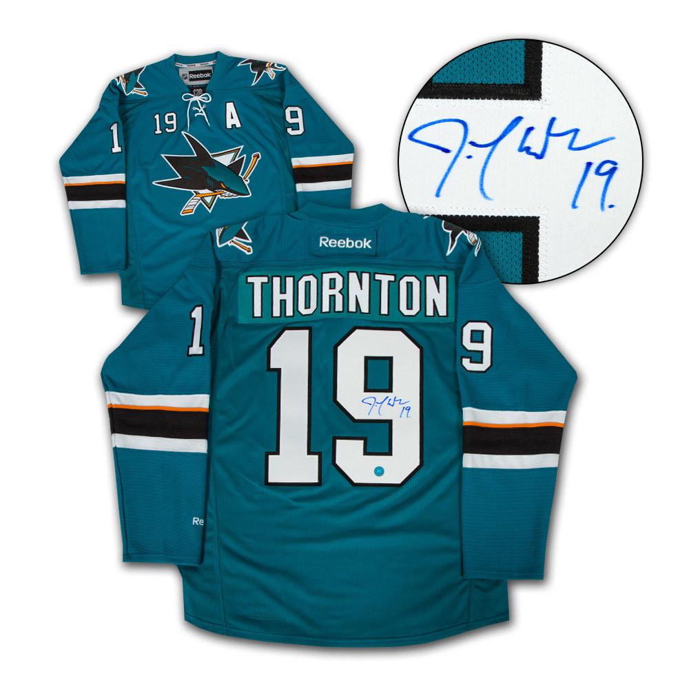 Joe Thornton San Jose Sharks Autographed Reebok Premier Hockey Jersey