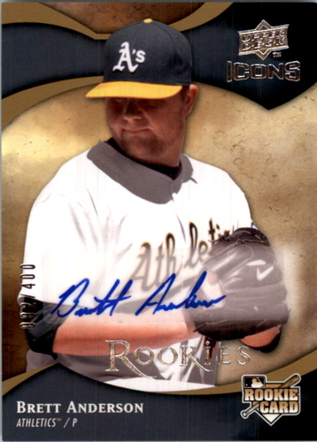 Photo of 2009 Upper Deck Icons #148 Brett Anderson AU/400