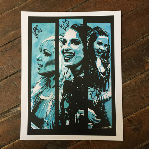 Photo of Riott Squad SIGNED 11 x 14 Rob Schamberger Print