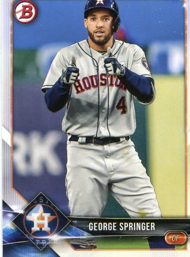 Photo of 2018 Bowman #14 George Springer