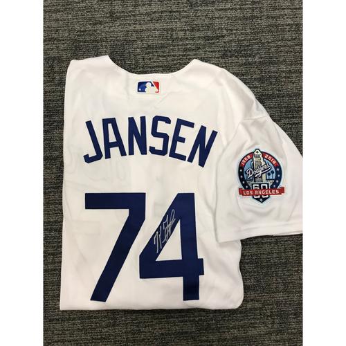 Photo of Los Angeles Dodgers Foundation Online Auction: Kenley Jansen Authentic Autographed Los Angeles Dodgers Jersey - Not MLB Authenticated