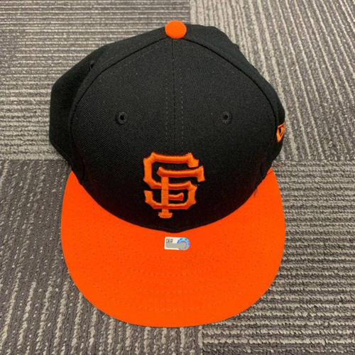 Photo of End of Year Auction - 2018 Game Used Alternate Orange Bill Cap - size 7 3/8 - worn by #22 Andrew McCutchen on 8/31/18