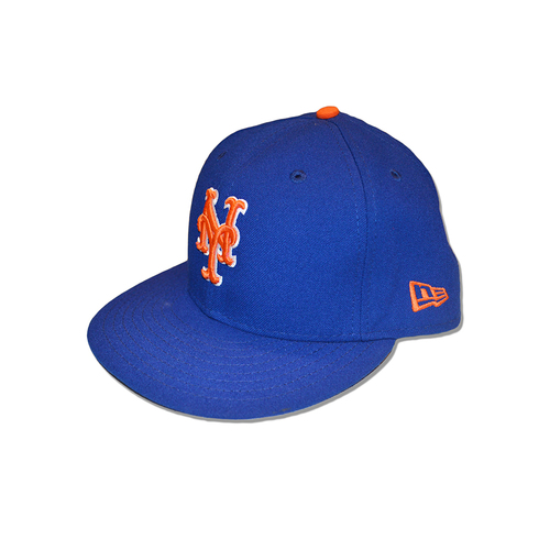 Photo of Dominic Smith #22 - Game Used Blue Alt. Home Hat - Mets vs. Braves - 9/25/17