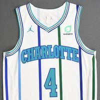 Devonte' Graham - Charlotte Hornets - 2018-19 Season - Game-Issued White Classic Edition 1988-97 Home