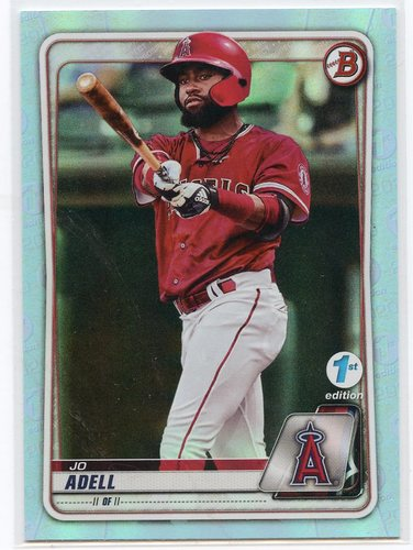 Photo of 2020 Bowman 1st Edition Sky Blue Foil #BFE100 Jo Adell