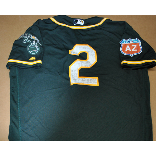 Photo of Team-Issued 2016 Spring Training Jersey - Khris Davis - Size 44 - Oakland Athletics