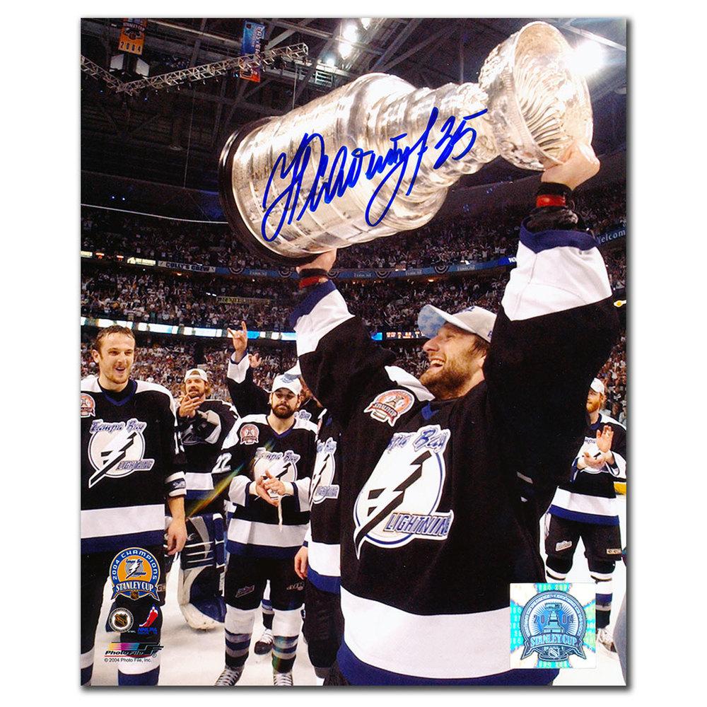 Nikolai Khabibulin Tampa Bay Lightning 2004 Stanley Cup Autographed 8x10