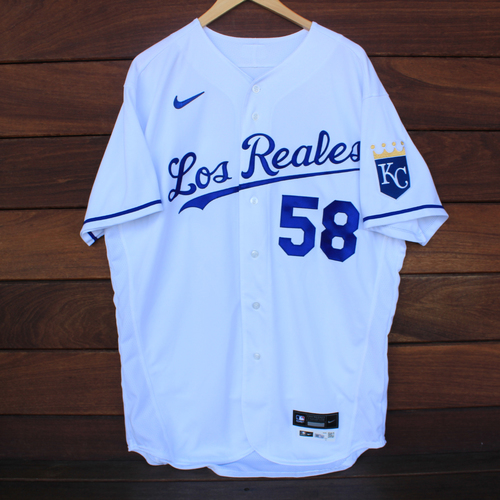 Photo of Game-Used Los Reales Jersey: Scott Barlow #58 (SEA@KC 9/17/21) - Size 46