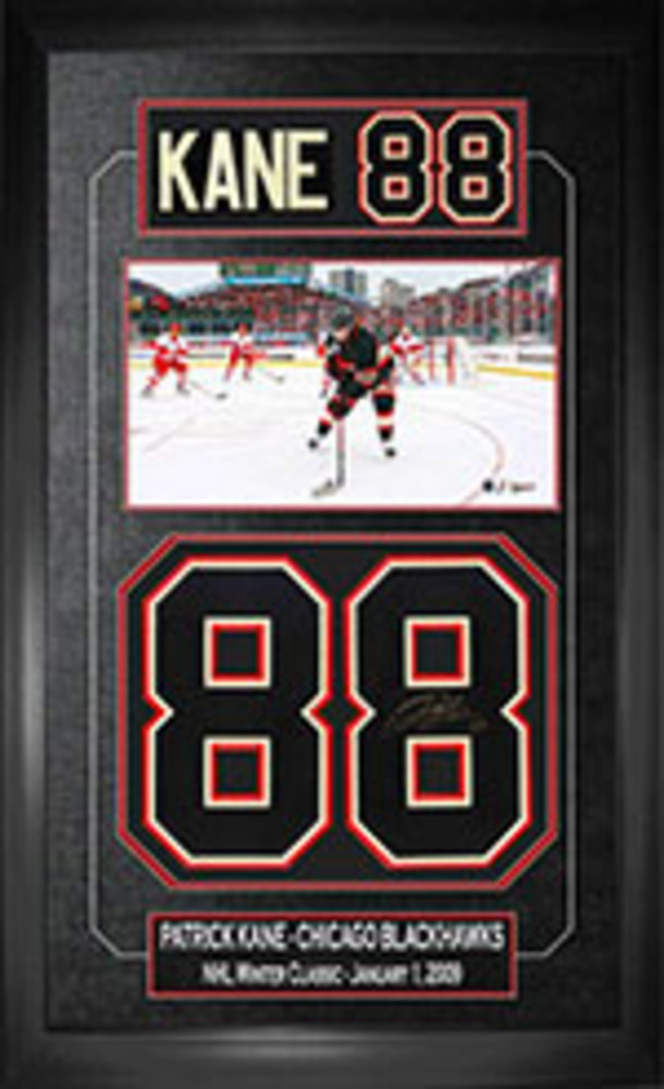 Patrick Kane - Signed & Framed Jersey Numbers - Chicago Blackhawks 2009 Winter Classic