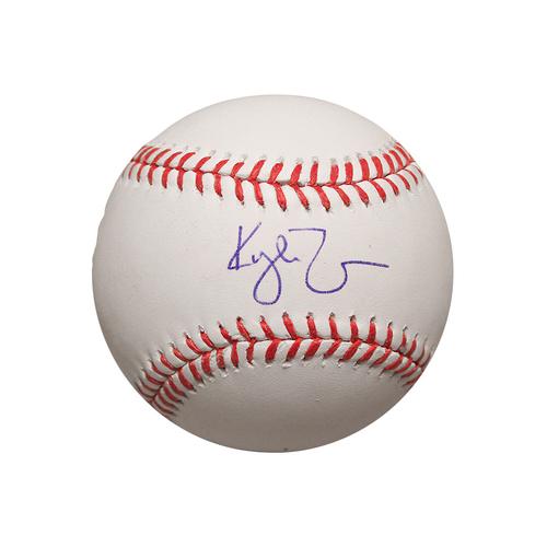 Kyle Zimmer Autographed Baseball
